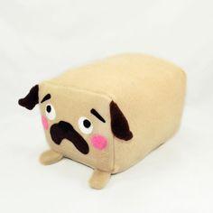 PUG loaf plush toy