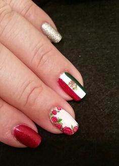 Mexico nail art ~ roses