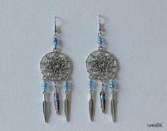 3a7cd622ea7 Collier doré turquoise pastel perles pompon bleu canard féminin   Collier  par artistik