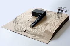 Model of the NO99 Straw theatre; beautiful in its simplicity.