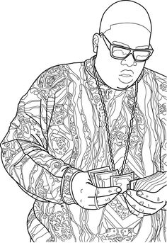 big idea coloring pages | Bun B's Jumbo Coloring And Rap Activity Biggie Christmas ...