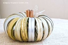 Industrial canning jar lid pumpkin, by Simply Klassic Home / Yellow Bliss Road