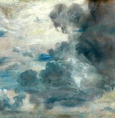 "John Constable's ""Cloud Study,"" from around 1822. Frick Collection, NY"