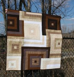 modern quilt - Flicker image of beautiful colors & textures - sort of a log cabin I think?