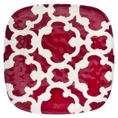 Home Red Moroccan Salad Plates- Set of 8.Opens in a new window