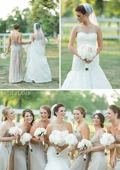 Champagne Bridesmaid Dress www.katielambphotography.com