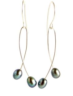 Peacock pearl earrings sterling silver pearl by KahiliCreations, $42.00
