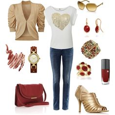 A little Gold Glitz!, created by beverly-keith-simpkins on Polyvore