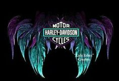 Blue Harley Angel Wings.  I guess since I just bought my first Harley, a 2004 Sportster Custom 883, I AM a Harley Girl!   Repinned by An Angel's Touch, LLC, d/b/a WCF Commercial Green Cleaning Co., Denver's Property Cleaning Specialists. http://angelsgreencleaning.net