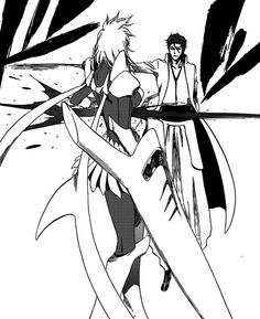 Aizen slashes Tia Harribel as he expresses his disappointment in the Espada. (BLEACH)