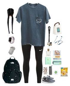 """School"" by kansas-girl0 on Polyvore featuring NIKE, adidas, Sonix, Simply Gum, Estée Lauder, Burt's Bees, Beats by Dr. Dre, The North Face, CamelBak and The Perfumer's Story by Azzi"