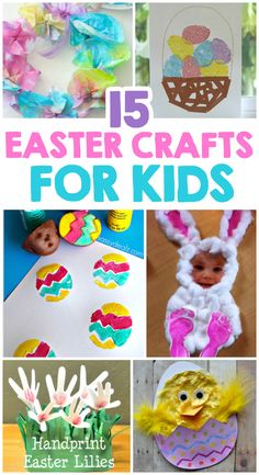 Easter is only two weeks away, so it's time to get started on those Easter crafts! So, today I'm sharing some of our favorite Easter Crafts For Kids. From the little ones to even bigger kids… Easter Projects, Craft Projects For Kids, Crafts To Do, Kids Crafts, Craft Ideas, Easter Ideas, Easy Crafts, Bunny Crafts, Wood Crafts