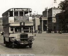 Wagen der Linie 4 Unter den Linden (ABOAG) ca 1928