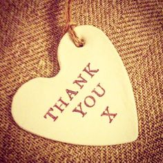 Handmade Clay Thank You Gift Tag