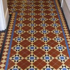 Photos featuring our design, consultation and sheeted tile supply. Victorian, Edwardian, Georgian and contemporary ceramic tile designs. Hall Tiles, Tiled Hallway, Tiles London, Encaustic Tile, Tile Installation, Contemporary Ceramics, Geometric Designs, Tile Patterns, Tile Design