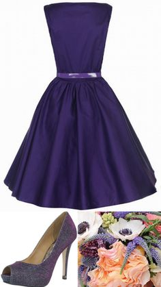 Style Inspiration and Design African Violet Purple Bridesmaid Dress Inspiration www.lisasammonsevents.com