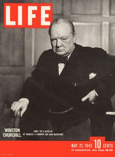 LIFE Cover: May 21, 1945 | 10 Iconic LIFE Magazine Covers | LIFE.com  Yousuf Karsh—Life Magazine LIFE magazine, May 21, 1945