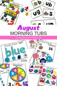 Fun Math & Literacy activities for Kindergarten and Preschool!