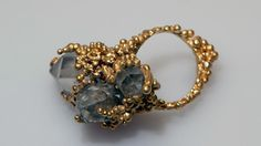 Sarah Brown (UK) - Gold & Crystal Barnacle Ring inspired by nature - organic forms jewellery design