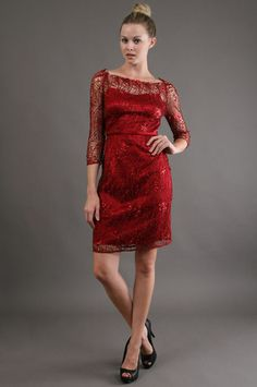 The Scarlett Lace Dress by Kay Unger New York at CoutureCandy.com