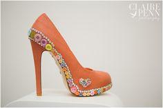 Gorgeous custom wedding shoes designed by Revivemeboutique