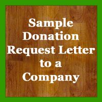 Sample Tricky Tray Donation Letter