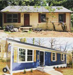 Home Exterior Makeover, Exterior Remodel, Remodeling Mobile Homes, Home Remodeling, Mobile Home Exteriors, Small House Exteriors, House Makeovers, Exterior House Colors, Design Furniture