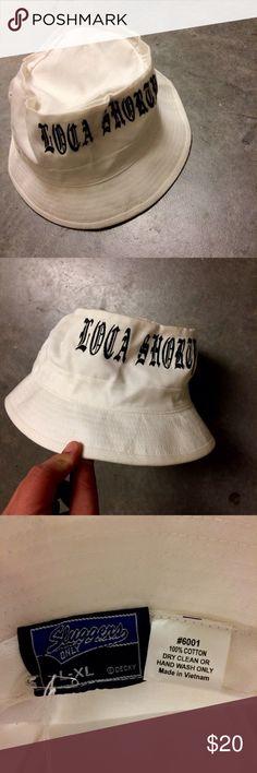 Loca Shorty white bucket hat Loca Shorty white bucket hat. Good condition. Size L/XL. Vintage Accessories Hats