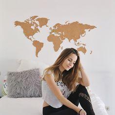 DIY ROOM DECOR | cabecero con mapa del mundo & cómo pintar muebles de forma original