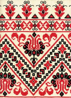 Hungarian embroidery chart, from the Hungarian Folklore Museum
