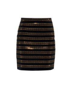 Embellished velvet mini skirt | Balmain | MATCHESFASHION.COM US