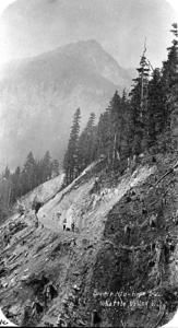Construction of the KVR Railway on the Coquihalla in 1914