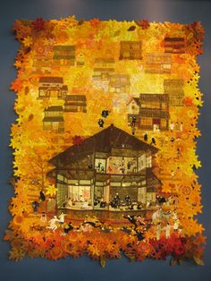 amazing quilt pinner Joni Costley Staack Interesting  unique quilt edge. Not crazy about the theme of the quilt but love the autumn colors and the irregular border.