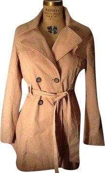 4351ec344bcd Vintage Trench Jacket Swing Trench Coat Pink Trench Coat