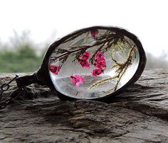 terrarium necklace Love in the meadow glass necklace by MARIAELA