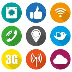 Icons for social networking vector by vivat on @creativemarket
