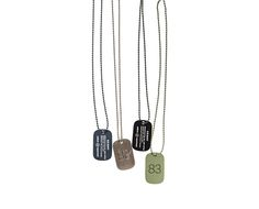 uniform experiment | PRODUCT | DOG TAG NECKLACE