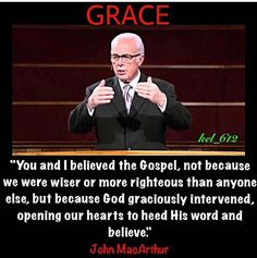 John F. (born June is a pastor and author known for his internationally syndicated radio program Grace to You. He has been the pastor-teacher of Grace Community Church in Los Angeles, Ca since February Theologically, MacA Faith Quotes, Bible Quotes, Wisdom Quotes, Christian Faith, Christian Quotes, Christian Apologetics, Grace To You, John Macarthur, Soli Deo Gloria