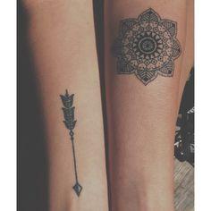Mandala And Arrow Tats arm tattoos, arrow tattoo, mandala, mandala tattoo  http://tattoo-designs.us/mandala-and-arrow-tats/