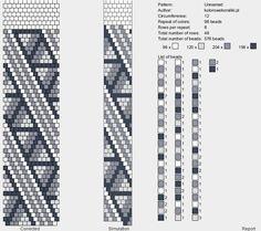 12 around bead crochet rope pattern Crochet Beaded Necklace, Beaded Bracelet Patterns, Beaded Wrap Bracelets, Crochet Bracelet, Beaded Crochet, Bead Crochet Patterns, Bead Crochet Rope, Beading Patterns, Seed Bead Jewelry
