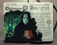 'Occlumency spell' with Severus Snape Harry Potter illustration by Gabriel Picolo Harry Potter Fan Art, Mundo Harry Potter, Harry Potter Drawings, Harry Potter Books, Harry Potter Universal, Harry Potter Fandom, Harry Potter World, Severus Rogue, Severus Snape