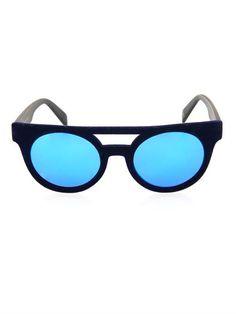 I-V velvet round-framed sunglasses | Italia Independent | MATC...