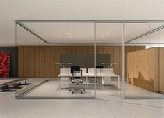 Removable partition / aluminum / glass / for offices ARIA BABINI OFFICE