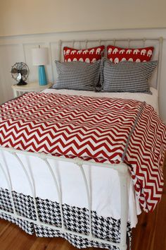 Alabama FULL 6pc Bedding set by by GritsandGraceBedding on Etsy, $450.00