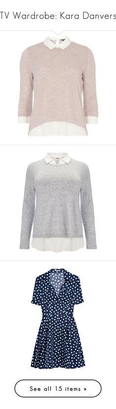 """TV Wardrobe: Kara Danvers"" by normalpeoplescaresme ❤ liked on Polyvore featuring supergirl, MelissaBenoist, karazorel, karadanvers, tops, sweaters, shirts, pink, shirt sweater and collared shirt"