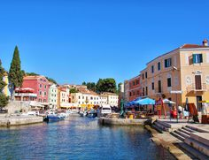 Small town of Veli Losinj on the Island of Mali Losinj, Croatia