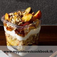 Choose puffed brown rice cereal instead of granola for a skinnier version of a typical parfait. Recipe on MyPinterestCookBook.tk