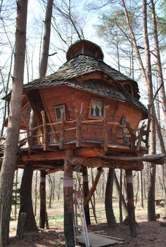 How To Build A Treehouse ? This Tree House Design Ideas For Adult and Kids, Simple and easy. can also be used as a place (to live in), Amazing Tiny treehouse kids, Architecture Modern Luxury treehouse interior cozy Backyard Small treehouse masters Cool Tree Houses, Fairy Houses, Play Houses, Dream Houses, Nagano Japan, Tree House Designs, Unusual Homes, In The Tree, Little Houses