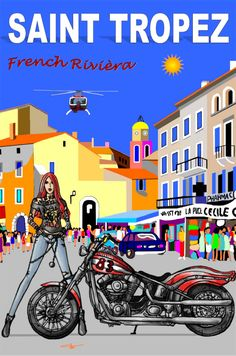 Saint Tropez, Art Deco Posters, Retro Posters, Week End France, Jpg To Vector, Vector Free, Carte Visa, Switzerland Itinerary, Tourism Poster