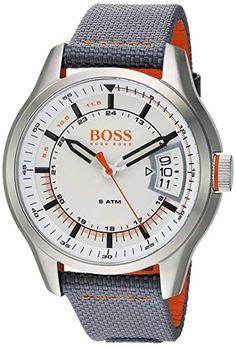 5de937b1d01 HUGO BOSS Men s  Hong Kong Sport  Quartz Stainless Steel and Nylon Casual  Watch